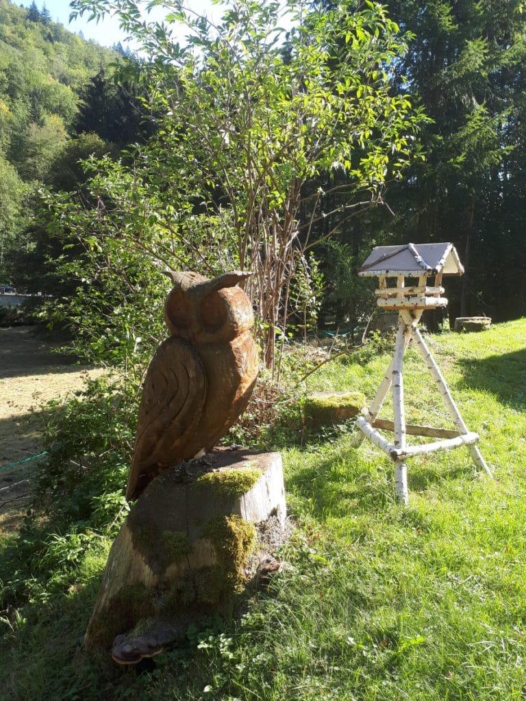 Gite Keiko sculpture en bois